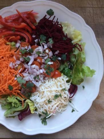basis salade van elke middag