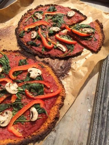 vegan pizza op zondag